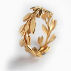 Gold leaf ring.!