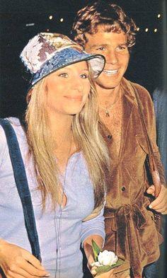 Barbra Streisand and Ryan O'Neal