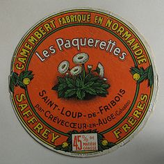 Vintage Camembert Cheese Label. (Dave Caplan) Tags: france illustration vintage advertising normandie calvados camembert saintloupdefribois cheeselabel
