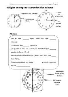 As horas ficha explicativa