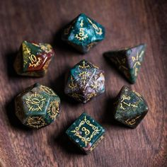 Set completo indiano agata didai marini Set Gemstone DnD Dice Set - Dungeons and Dragons, RPG Game DND MTG Game Dagger Elf Topic Pen & Paper, Dungeons And Dragons Dice, Dnd Dragons, Dnd Funny, Dragon Dies, Indian Agate, Tabletop Rpg, Mtg, Hand Engraving