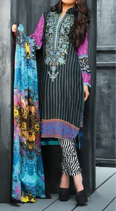 Multicolor Embroidered Linen Dress Contact: (702) 751-3523  Email: info@pakrobe.com  Skype: PakRobe