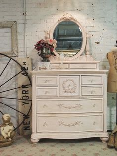 Painted Cottage Chic Pink Romantic Dresser and by paintedcottages, $1495.00---guest room decor, future nursery?!
