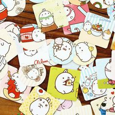 45pcs,  Molang Stickers, Fat Rabbit, bunny, Planner Sticker, kawaii stationary, Scrapbook Sticker, j