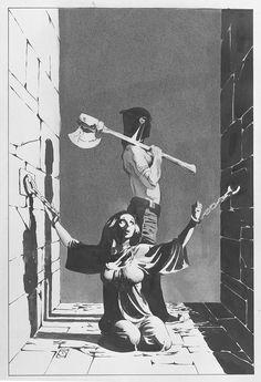 Jeff Jones original cover art for DC's Wonder Woman April Comic Book Artists, Comic Artist, Comic Books Art, Illustrations, Illustration Art, Dungeons E Dragons, Heros Comics, Jeff Jones, Vintage Horror