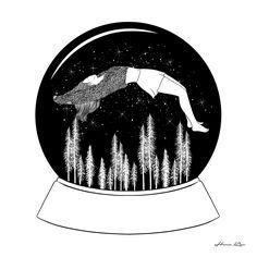 | Hello, Winter | by Henn Kim Go Get Art Print