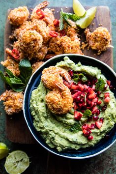 Baked Thai Coconut Shrimp with Lemongrass Guacamole - Thai red curry paste + coconut + shrimp = the best, plus it's SO quick and easy! @halfbakedharvest.com