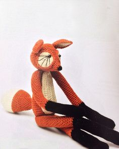 "(inspiration) Foxy Amigurumi  (use pipe cleaners in arms and legs for a ""poseable"" fox)"