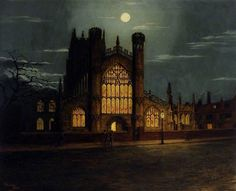 St Mary's Church, Beverley, East Riding of YorkshireThomas Bonfrey Burton (1866–1941)  Oil on canvas, 56 x 70 cm.