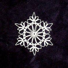Free crochet snowflake pattern