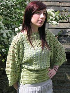 Rowan Meadow (Free) in Free Crochet Patterns at Webs Crochet Pullover Pattern, Crochet Tunic, Crochet Clothes, Crochet Sweaters, Crochet Blankets, Crochet Woman, Love Crochet, Diy Crochet, Crochet Tops