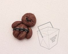 Chewbacca Polymer Clay Pendant Polymer Clay by CrunchySushiDay, $6.00