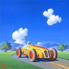 Robert LaDuke - Yellow Racer