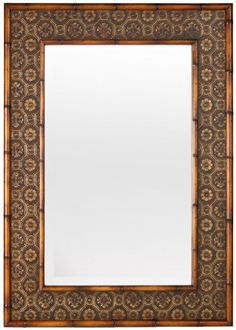 Cottage Style Furniture Faux Bamboo Mirror (many finish options) $605