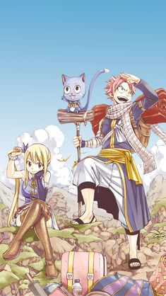 Fairy tail Natsu and Lucy Fairy Tail Lucy, Fairy Tail Manga, Fairy Tail Tumblr, Image Fairy Tail, Fairy Tale Anime, Fairy Tail Photos, Fairy Tail Natsu And Lucy, Fairy Tail Family, Fairy Tail Guild