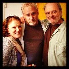 Linda Lavin, Michael Maren, Harris Yulin as Yulin is a wrap for picture.