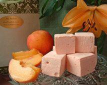 18 Gourmet Peach Marshmallows