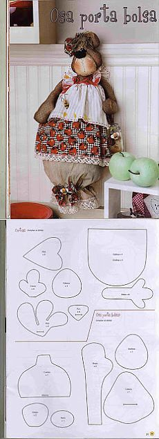 Discover thousands of images about pattern . Sewing Toys, Sewing Crafts, Sewing Projects, Easy Sewing Patterns, Doll Patterns, Fabric Dolls, Paper Dolls, Plastic Bag Holders, Patch Quilt