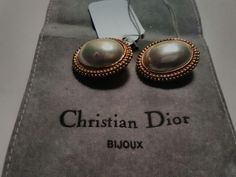 Very classic and elegant Christian Dior clip earrings. Available April 21st.