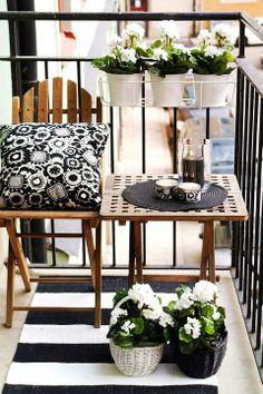 Depósito Santa Mariah: Ideias Para Varanda Pequena de Apartamento!