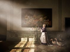 Scenes from 17th century Skokloster Slott castle recreated