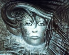 H. R. Giger is recognized as one of the world's foremost artists of Fantastic Realism. Hr Giger Art, Visual Effects, Xenomorph, Giger Alien, Biomechanical Tattoo, Illusion Kunst, Surreal Artwork, Alien Art, Visionary Art