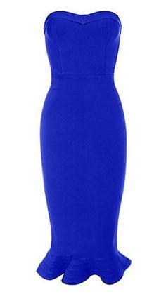 The Blue Mermaid Dress Cheap Dresses, Dresses For Sale, Blue Mermaid Dress, Club Dresses, Summer Dresses, Summer Fashions, Blue Bandage Dress, Beautiful Prom Dresses, Dress Tutorials