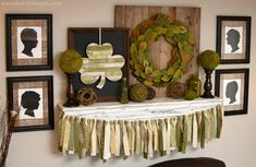 Check out my shabby chic St. Patrick's Day mantel with a DIY wooden shim shamrock, fabric garland and DIY magnolia wreath. Rag Garland, Fabric Garland, Garlands, Diy Bow, Diy Ribbon, Carnival Themed Party, Easter Fabric, Felted Wool Crafts, Diy Fall Wreath