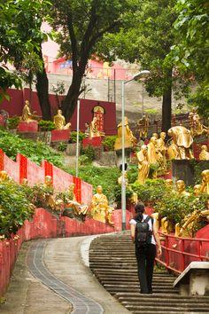 10,000 Buddhas Monastery, Sha Tin, Kowloon, Hong Kong