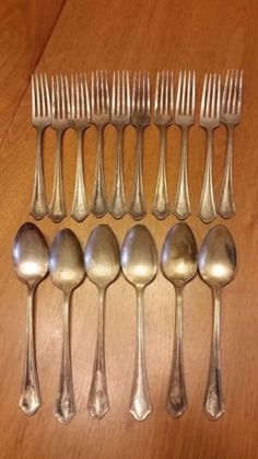 Set of 10 Forks and 6 Spoons Vintage Oneida Silver Plated Monogrammed B in Antiques Silver Silverplate Flatware \u0026 Silverware & 40 Pc. Oneida Tudor Silverplated Silverware Set- Elaine in Antiques ...