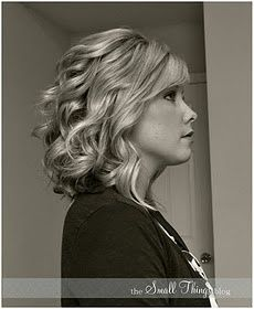 Curl hair with flat iron...I LOVE her tutorials!  She has a great testimony too!