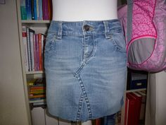 Rock aus Jeans / Skirt made from an old pair of jeans