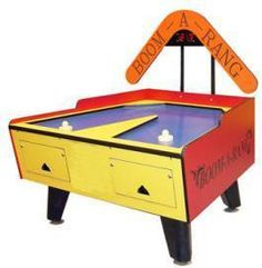 Great American Boom A Rang 2 Player Air Hockey Table With Electronic Scoring