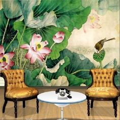 custom-DIY-unique-home-Decor-artistic-art-mural-Deco-wall-paper-12FT-x-8FT-WF175 silk with special installation $160