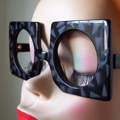 70s Mod Square Retro Eye Glasses Eric Jean Designer 1970