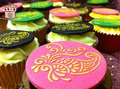 Mehndi Cake Toppers : Mehndi stencil set used for decos indianwedding