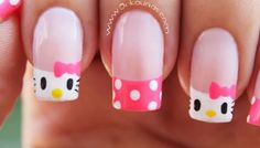 Hello Kitty & Cat Paw Prints Toe Nail Art Design , Have you even seen hello Kitty nail styles before? the lovable hello Kitty ought to be the foremost common cat within. Toe Nail Art, Nail Art Diy, Cute Nail Designs, Beautiful Nail Designs, Classy Nail Art, Hello Kitty Nails, Nails For Kids, Cat Nails, Manicure And Pedicure