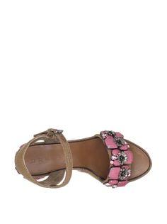 80% OFF MARNI Women's Wedge Sandal (Marron/Pink)