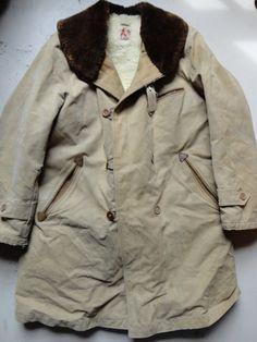 Vintage 1940s cotton canvas mouton leather by TheDustbowlVintage, £170.00