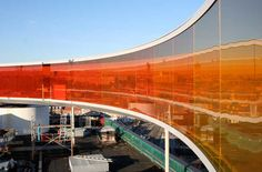 A gorgeous installation in Denmark by Olafur Eliasson called 'Rainbow Panorama' ... WHICH YOU CAN ACTUALLY WALK IN.