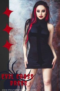Slide your inner goth into this dress and rule your world.