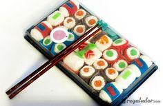 Esta bandeja de sushi no es lo que parece: combina los sabores más dulces y exquisitos de las gominolas con las formas más típicas del sushi japonés