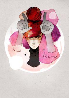 Ekaterina Koroleva's Zodiac Signs Set Illustrations: Taurus