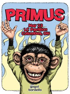 INSIDE THE ROCK POSTER FRAME BLOG: Primus Columbus and Milwaukee Posters