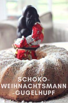 Schneller Puffer mit Schokoladenbruch der Weihnachtsmänner. Ein Kuchen voller Erinnerungen an die Weihnachtstage.