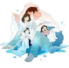 Animator Hosoda Mamoru, OOKAMI KODOMO NO AME TO YUKI (WOLF CHILDREN), Family