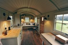 Shepherd Hut Inside | Shepherd Hut interior                                                                                                                                                     More