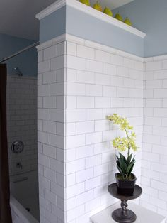 White Subway Tile Shower Design, Pictures, Remodel, Decor and Ideas - page 8