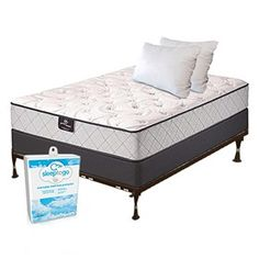 Serta Tierny Plush Queen Size Bundle Package is a Perfect Sleeper Essentials collection mattress set.