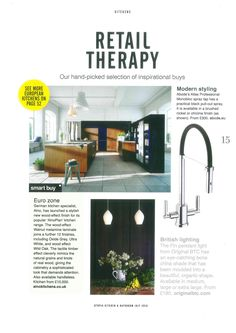 Utopia magazine feature handpicking a selection of inspirational buys which includes the Abode Atlas Professional in Chrome and Black finish. Smart Buy, German Kitchen, Retail Therapy, Chrome Finish, The Selection, It Is Finished, Inspirational, Magazine, Modern